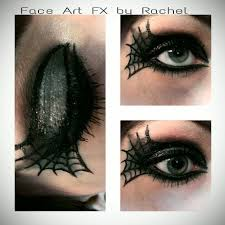paintedpion99 green and black spider web beauty eye makeup by paintedpion99