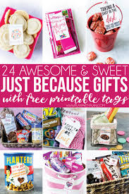 just because no occasion gift ideas and free printable gift s