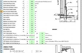 Small Picture Retaining Wall Design Spreadsheet Wonderful Gravity 23 nightvaleco