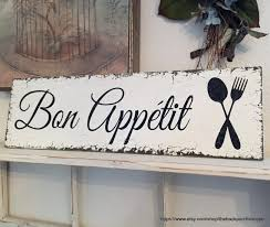 Bon Appetit Wall Decor Plaques Signs BON APPETIT French Signs Kitchen Signs Bon Appetit Signs 1