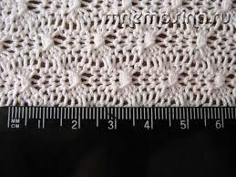 Расчет плотности вязания Контрольный образец  Как рассчитать лотность вязания Образец для расчета плотности вязания