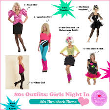 party outfits for a throwback 80s girls night in party