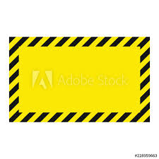 Black And Yellow Stripes Border Warning Striped Background Warning To Be Careful Potential Danger