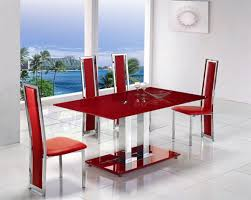 glass dining table with red leather chairs. glass dining table with red leather chairs e
