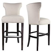 upholstered bar stools. Sole Designs Bella Collection Modern Upholstered Bar Stool Chair With Concave Back And Hand Applied Nail Stools B