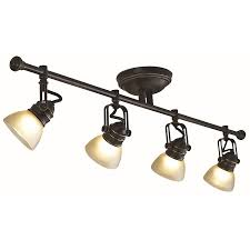 Juno Track Lighting Lowes Shop Allen Roth Tucana 4 Light Bronze Fixed Track Bar