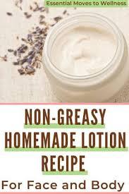 non greasy homemade lotion recipe