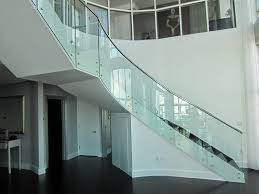 glass stairs. 1005. Modern Railing Design