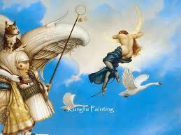 2019 100 handmade michael parkes painting reion on canvas magic027 from fineart 68 35 dhgate com