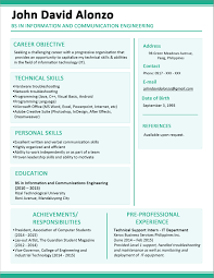 Modern Free Downloadable Resume Templates Modern One Page Resume Template Free Download Journalist One Page