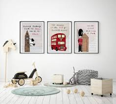 3 nursery wall art london wall decor
