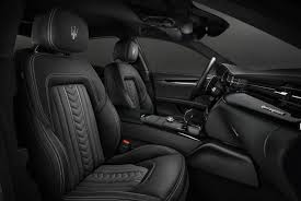 Seats Black Leather Design Details - Maserati Quattroporte GranLusso  T