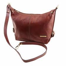 soft leather shoulder bag for women dark brown tuscany leather