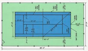 pickleball court size court dimensions