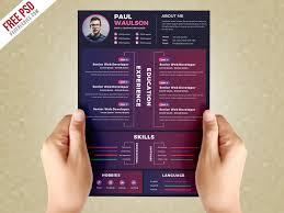 Cv Design Template Creative Resume Design Template Psd Psdfreebies Com