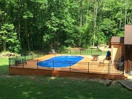 In Ground Pool Decking Cool Above Ground Swimming Pool Heater Deck