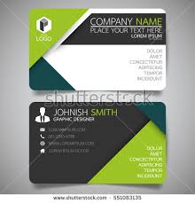 Green Modern Creative Business Card Name Stock Vector 551083135 ...