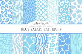 Vector Patterns Fascinating Blue Animal Print Vector Patterns Ba Design Bundles