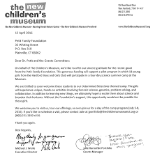petit family foundation grants awarded connecticut science center thank you note middot cooperative educational services therapeutic