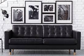 ikea modern furniture. IKEA Landskrona Leather Sofa Ikea Modern Furniture