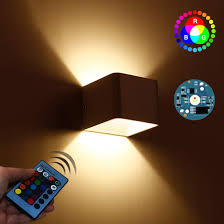 Battery Operated Up And Down Light Amazon Com Aykdp Modern Color Wall Sconce Up And Down