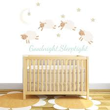 counting sheep fabric wall stickers