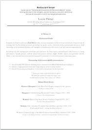 Sample Resume For Restaurant Server Awesome Resume Samples For Restaurant Servers Mmventuresco