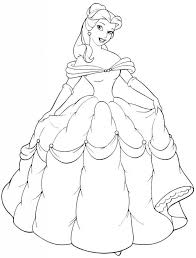 Free Printable Belle Coloring Pages For Kids Kids Birthday Parties