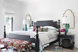 Black Mediterranean Style Bedroom