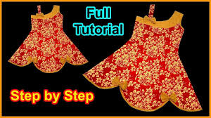 Diy Designer Baby Frock Cutting And Stitching Full Tutorial Pin On Baby Frock