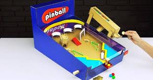 Cardboard Vending Machine New DIY Money Operated Amazing Pinball Game Gumball Vending Machine