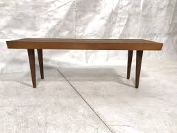 modern wood slat bench coffee table