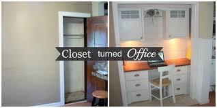 office in a closet ideas. Office Workspace Closet Reveal Design In A Ideas E