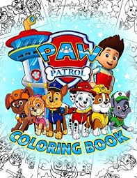 Zuma with scuba gear backpack. Paw Patrol Coloring Book Kids Coloring Books For Relaxation And Creativity Howie Eddie 9798651580620 Amazon Com Books