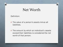 What Is Networth Financial Literacy Class 2 Net Worth And Banking Ppt Download