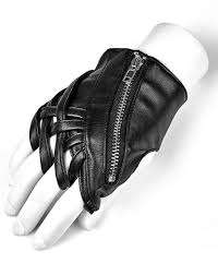 details about punk rave womens fingerless gloves black faux leather gothic punk selpunk