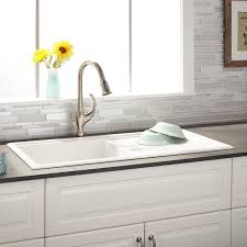 white kitchen sink with drainboard. White Kitchen Sink With Drainboard Inspirational 40\u0026quot; Manton Drop In Granite Posite Drain P