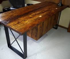 quotthe rustic furniture brings country. Rustic Oak Barnwood Desk With Steel Base Quotthe Furniture Brings Country