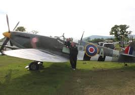 spitfire for sale. bill and tammy richards with the spitfire for sale s