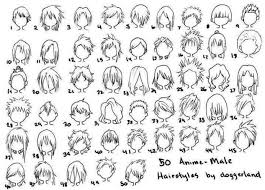 Large Anime Hairstyle Chart Anime Pin On We Heart It