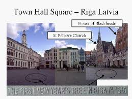 First Christmas Tree Riga Latvia in year 1510 - Patricia LTD