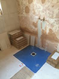 combining a wet room tray with tile backer boards with bathroom installation in leeds