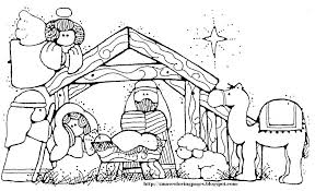 Nativity Coloring Pages For Preschool Free Nativity Coloring Sheets