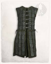 osric leather armour green limited edition torso armour tassets leather armour armour mytholon