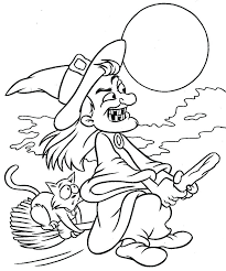 Witch Coloring Witches Coloring Pages 7 Halloween Witches Coloring