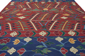 red blue new turkish kilim rug