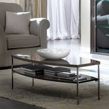 caligula platinum silver birch high gloss coffee table