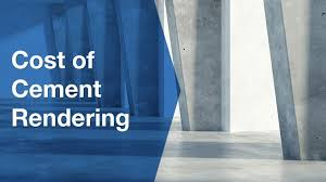 cost of cement rendering a house or wall