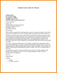 Cover Letter Examples For Applying A Teaching Job Adriangatton Com