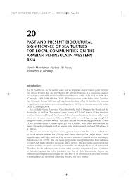 biocultural significance of sea turtles
